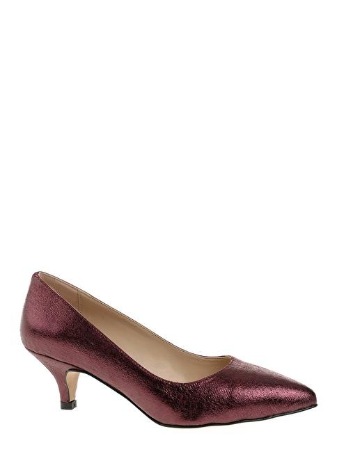 D by Divarese Kısa Topuklu Ayakkabı Bronz
